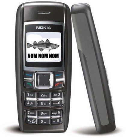 Телефон Nokia 1600 пережил целую неделю внутри рыбы