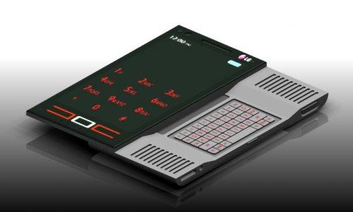 У концепт-мобильника LG Glide трехмерный дисплей и встроенный проектор