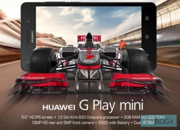 В Италии анонсирован смартфон Huawei G Play Mini