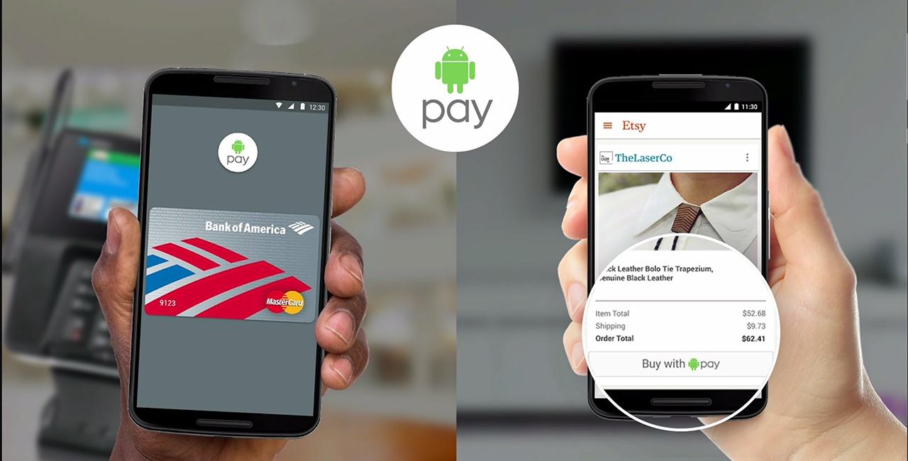 Android Pay запустят с новыми смартфонами Nexus