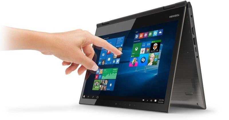 Новый ноутбук Toshiba споворотным дисплеем оборудовали 4K-матрицей