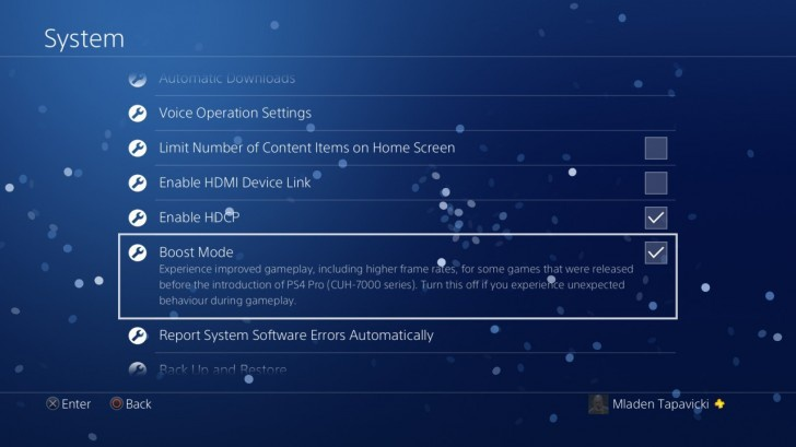 Сони дала возможность пользователям оценить форсированный режим PS4