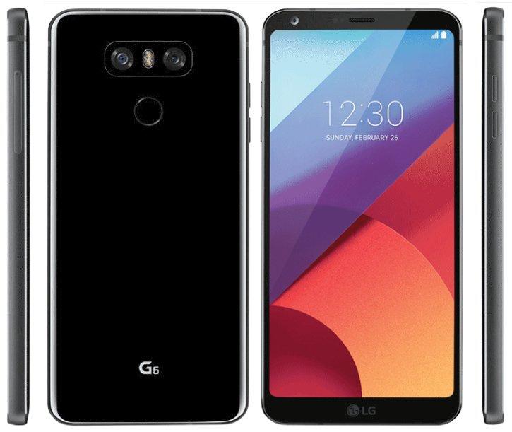 Утечка пресс-рендер LG G6