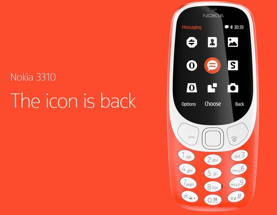 Новая версия нокиа 3310 показана наMWC 2017: цена, характеристики ипрочее