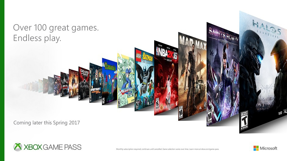 Компания Microsoft разработала новый игровой сервис Xbox Game Pass