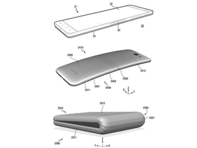 Самсунг  представит смартфон сгибким дисплеем  данной  осенью
