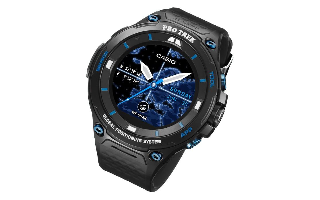 Casio показала защищенную версию умных часов Pro Trek WSD F20