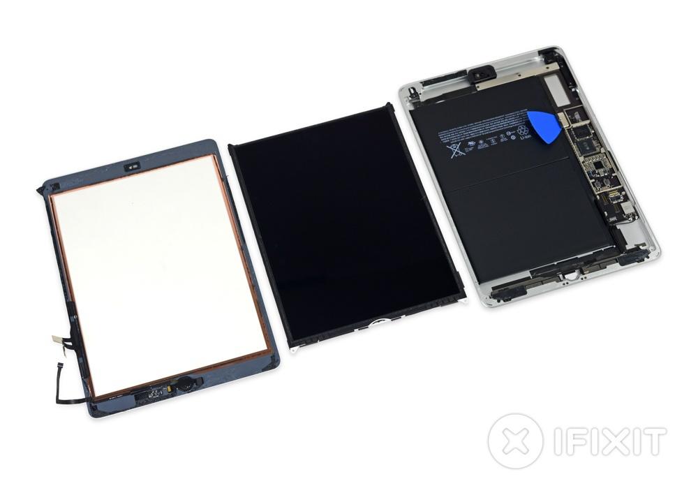 Внутри новых iPad нашли детали Air 1 и Air 2