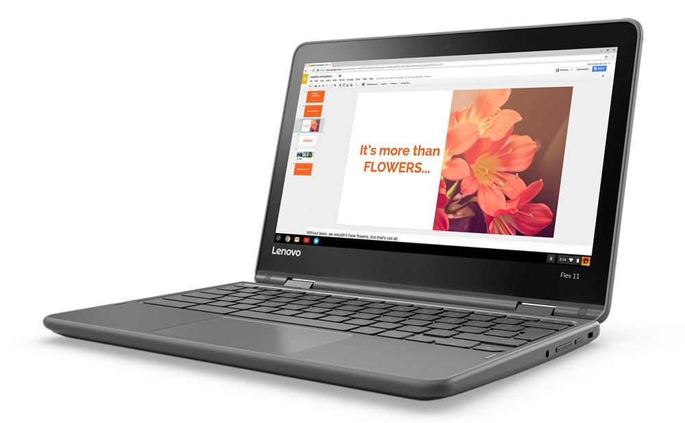 Представлен хромбук Lenovo Flex 11, небоящийся падений иводы