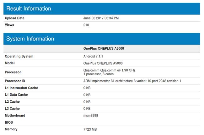 OnePlus 5 получит 8 Гбайт оперативной памяти