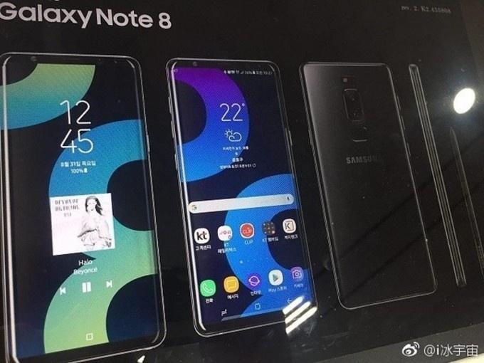 В сети появился рекламный постер Samsung Galaxy Note 8