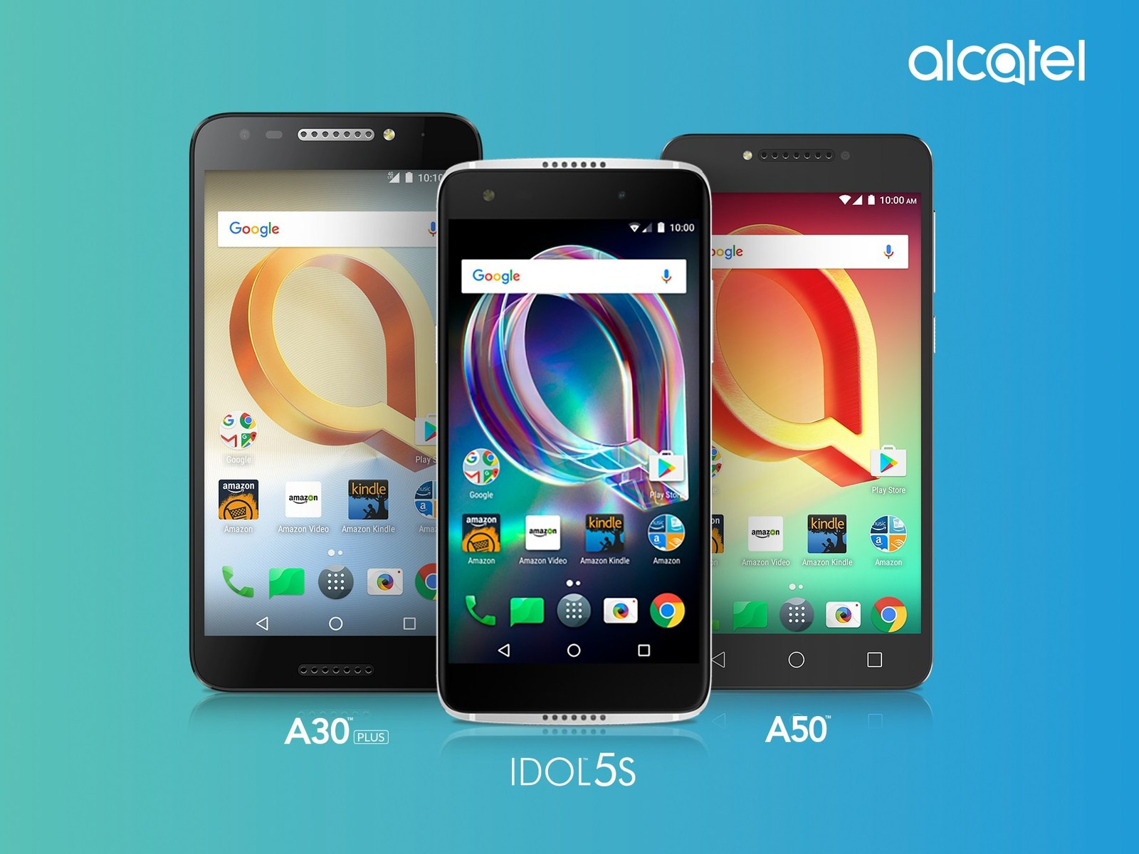 Alcatel представила три новых недорогих смартфона
