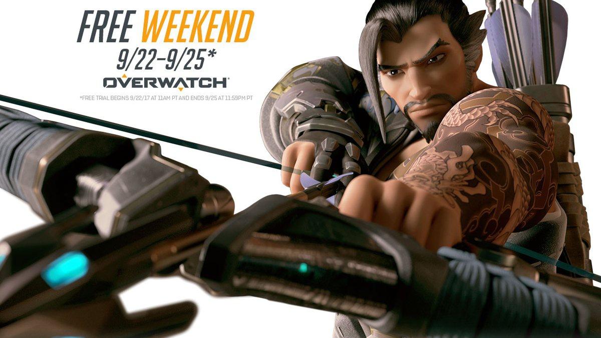 Наследующих выходных вOverwatch можно будет поиграть бесплатно