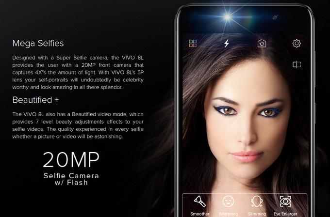 BLU анонсировала смартфон VIVO 8L с20-Мп камерой для селфи