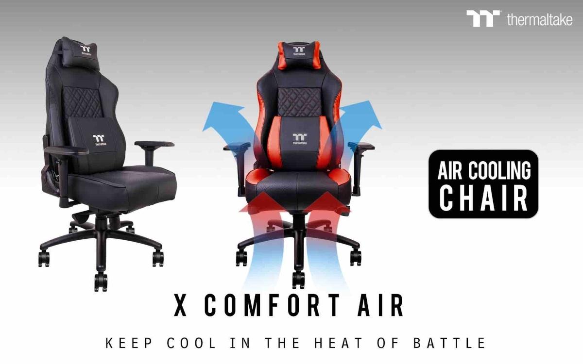 Thermaltake презентовала игровое кресло сактивным охлаждением XComfort Air