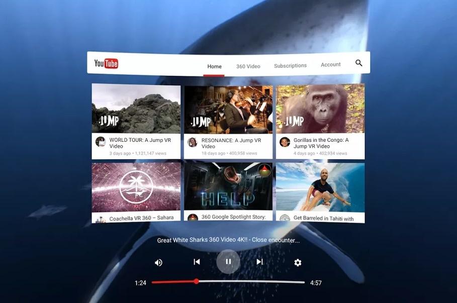 YouTube выпустила собственное VR-приложение вSteam