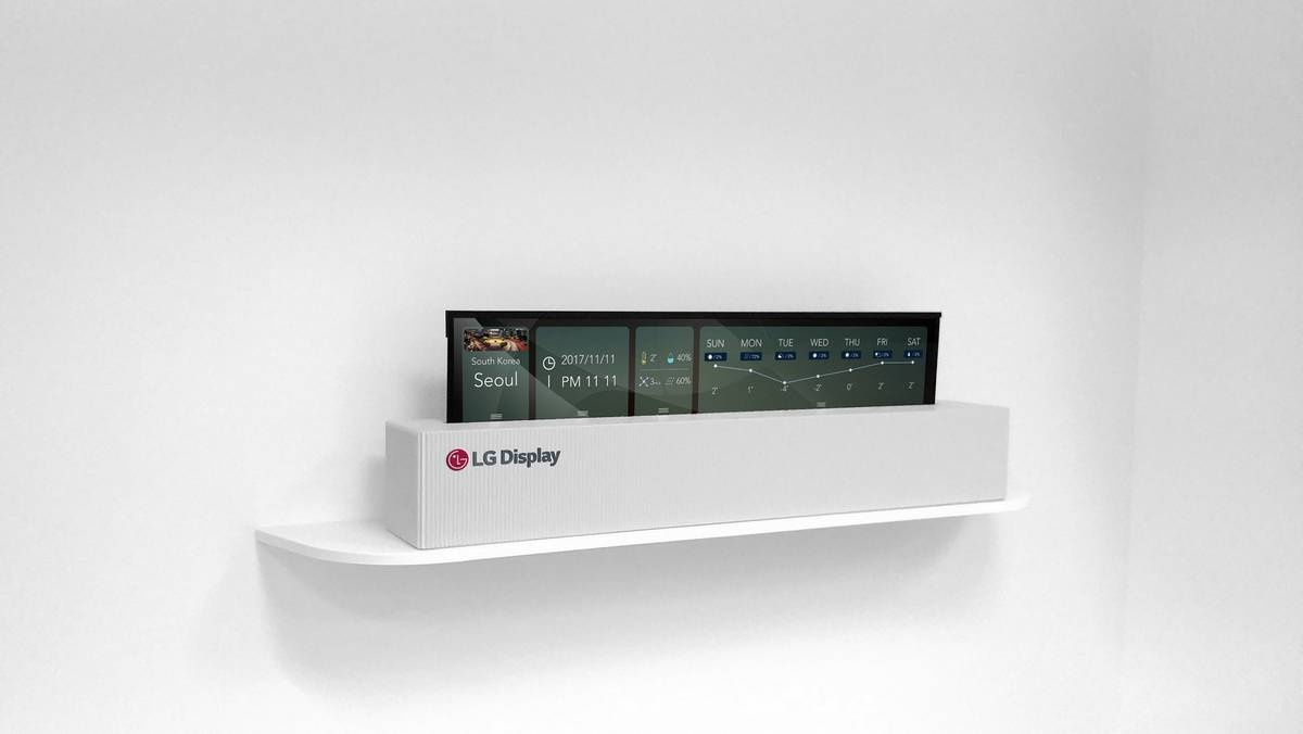 LG представила сворачиваемый 65-дюймовый OLED-телевизор