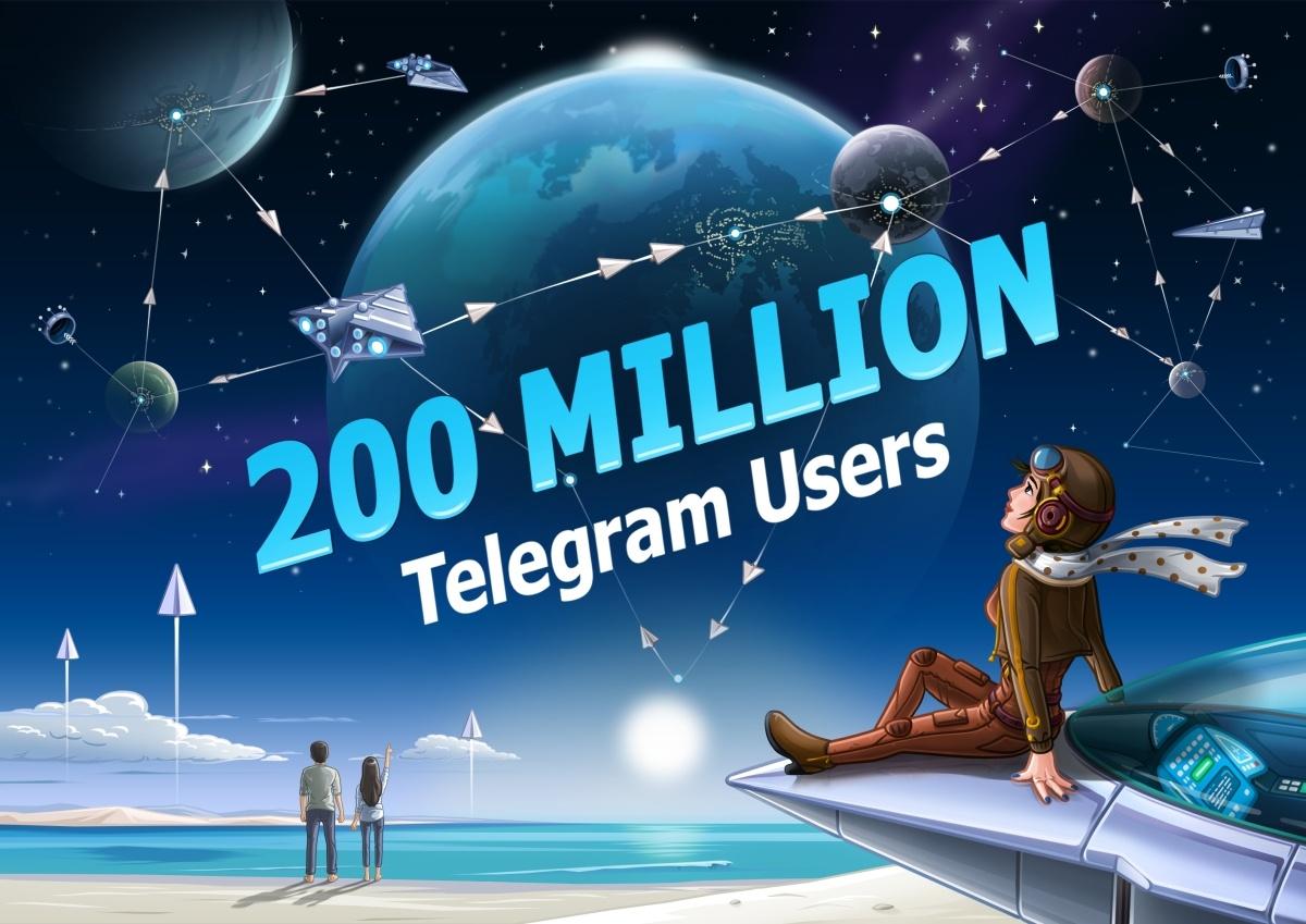 Telegram похвастался 200 млн активных пользователей