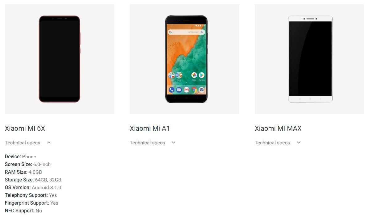 Xiaomi Mi6X замечен наживых фото