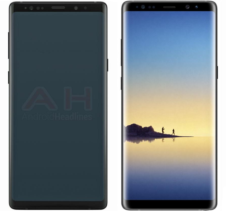 Утечка новый рендер Samsung Galaxy Note 9