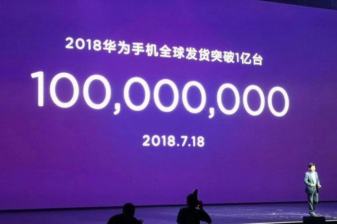 В 2018 Huawei уже продала больше 100 млн смартфонов